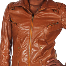 Clean Brown Leather Jacket