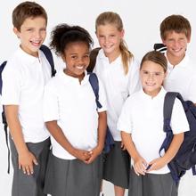 Group of Children Wearing Clean School Uniforms